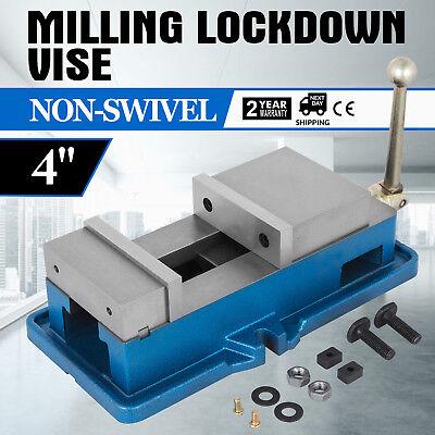 4 Non-swivel Milling Lock Vise Bench Clamp Fix Workpieces Cnc 19kn Precision
