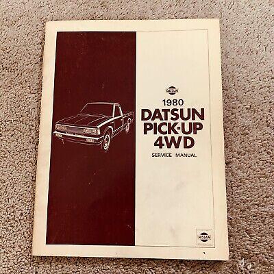 1980 Datsun Pick-Up 4WD Service Repair Manual Model 720 Series