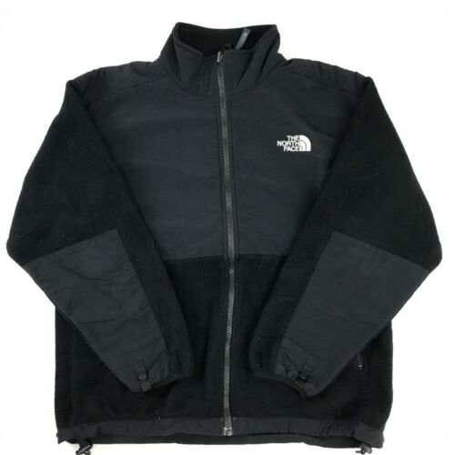 The North Face Denali Jacket Youth Large YL Black Full Zip Fleece C11_20