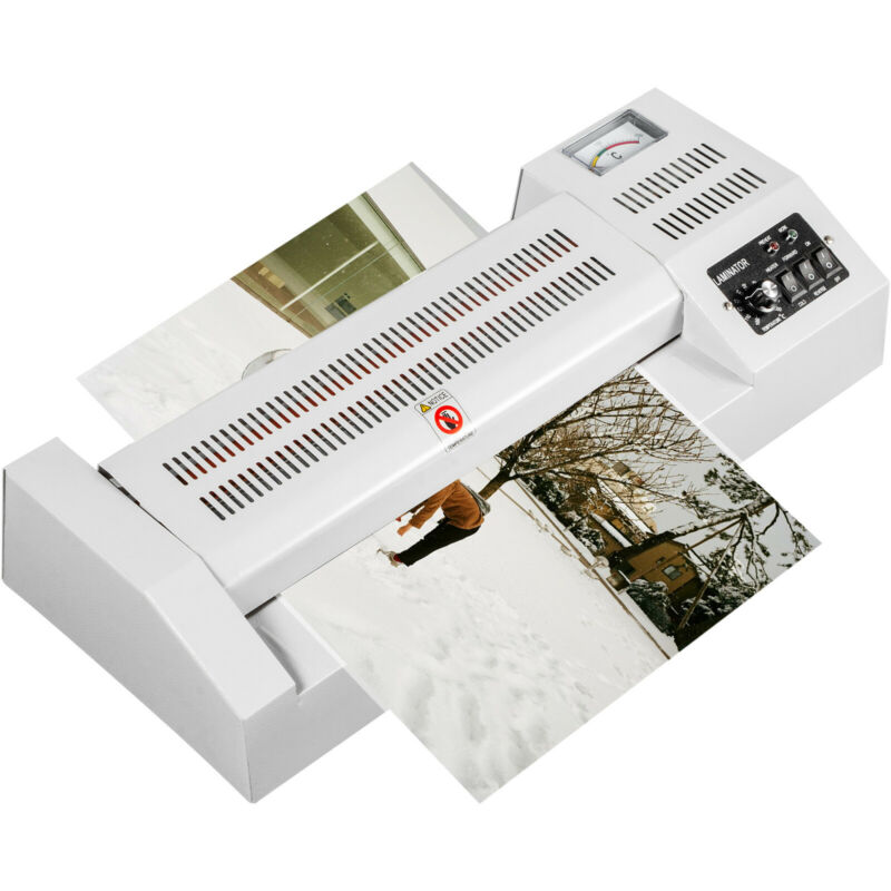 "VEVOR A3 A4 Thermal Laminator Machine 13"" Hot Cold Film Laminate 4 Roller System"
