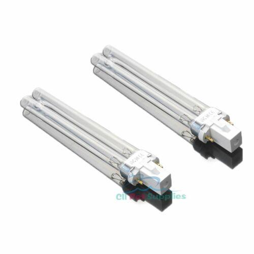 2 PCS UV Light Bulbs 9W Watt G23 Base for Aquarium UVC Sterilizer