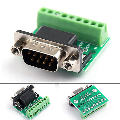 1 Db9 Male Transfer Screw Terminal 9 Pin 9 Hole Rs232 Rs485 Conversion Board Ua