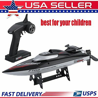 High Speed FT012 Remote Control 2.4G 4CH 4 Channel Brushless RC Racing Boat HX