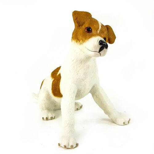 "Lenox Jack Russell Terrier Puppy Dog 5"" Figurine Porcelain 2003 Brown White"
