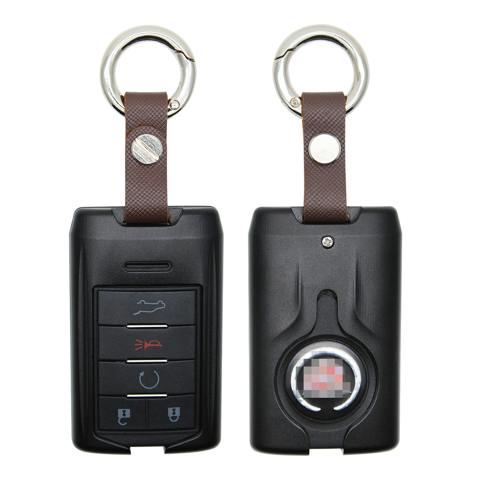 Aluminium Remote Fob Key Black Case for 2007-2014 Cadillac Escalade SRX CTS