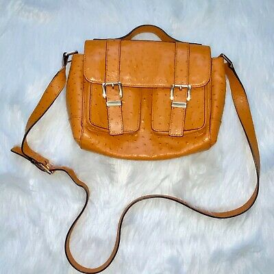 Michael Michael Kors Orange Ostrich Embossed Purse