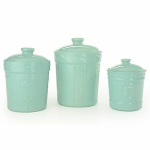 Signature Housewares 3 Piece Sorrento Ceramic Aqua