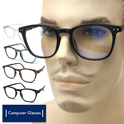Computer Glasses Anti UV Reflective Blue Light Ray Readers for Men and (Uv Reader Glasses)
