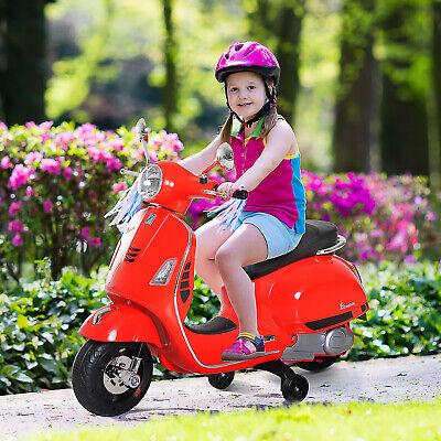 HOMCOM Coche Triciclo Moto Eléctrica Infantil Vespa Scooter Luces MP3 Bocina