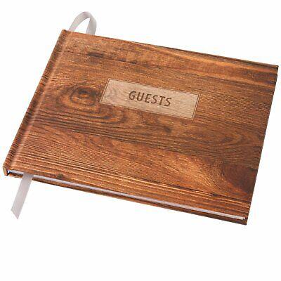 "Wedding Guest Book 9""x7"" (Rustic Design)"
