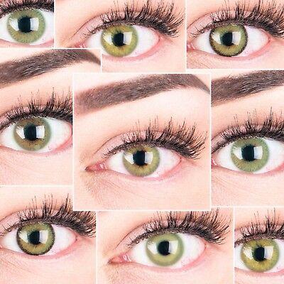 PREMIUM Farbige Kontaktlinsen aus Silikon Hydrogel SUPER NATÜRLICH - Grüne Farbige Kontaktlinsen