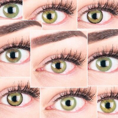 PREMIUM Farbige Kontaktlinsen aus Silikon Hydrogel SUPER NATÜRLICH GLAMLENS grün
