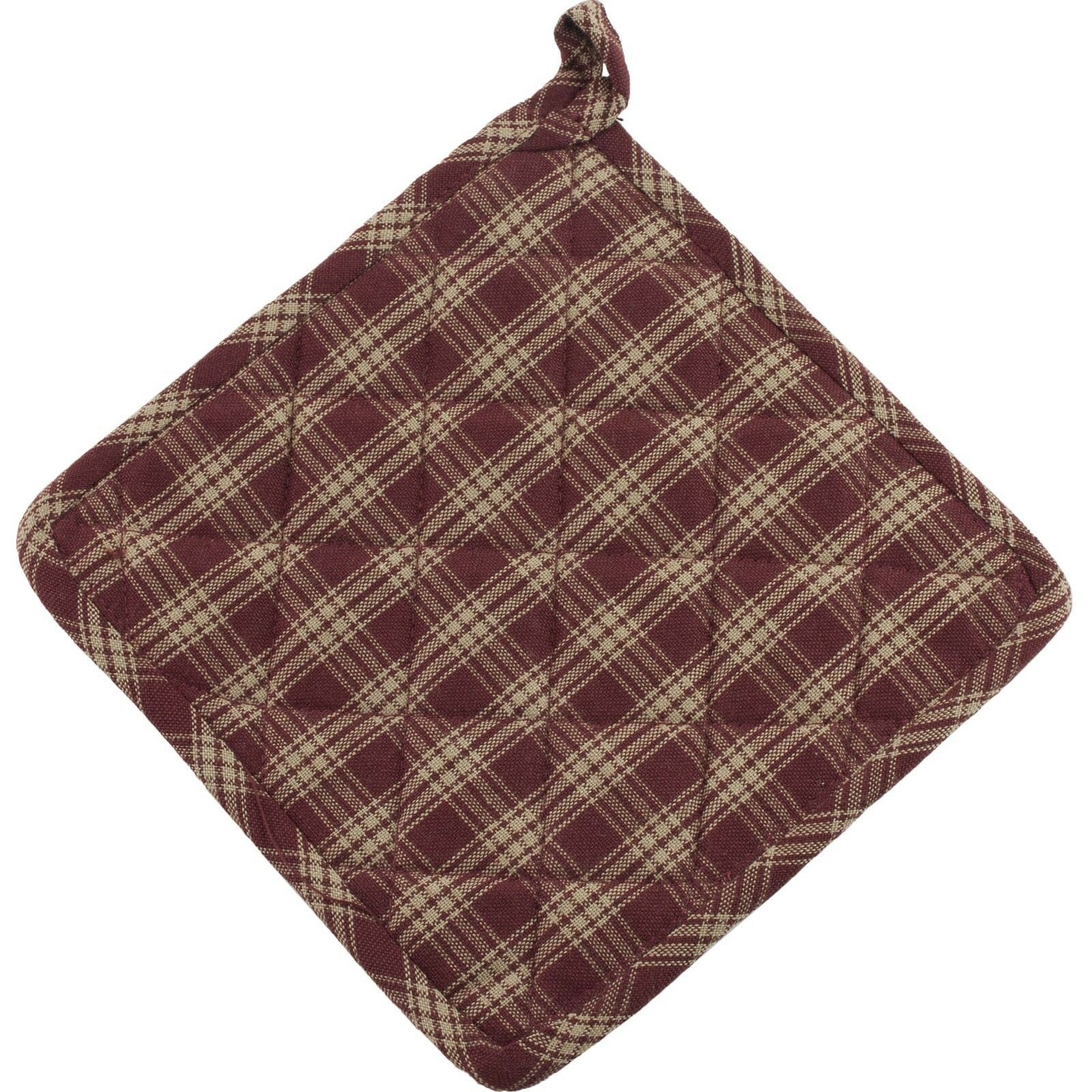Kitchen Burgundy Brown High Country By Park Designs Dishtowel Set of 2