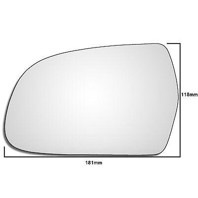 Left Hand Passenger Side Audi A3 MK2 2010 2013 Convex Wing Door Mirror Glass