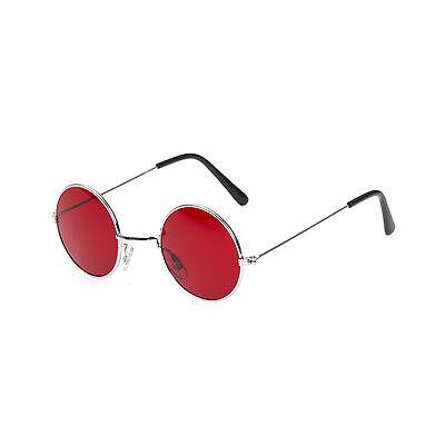 Red Lens Round Metal Frame John Lennon Glasses (Red John Sonnenbrille)