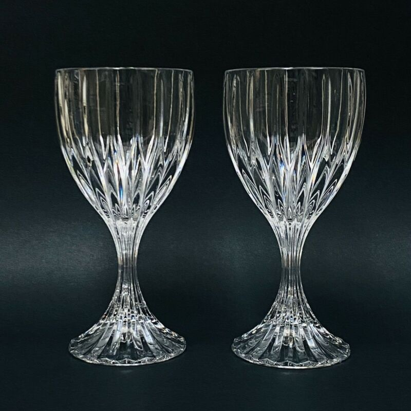 SET OF 2 Mikasa PARK LANE Crystal Water Goblets 6.75""