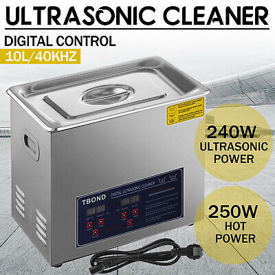 10l Ultrasonic Cleaner Cleaning Equipment Liter Industry Heated W Timer Heater