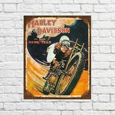 Harley Davidson motorcycles tin sign, garage signs tin, garage decor, wall signs