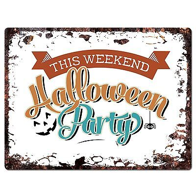 PP1897 HALLOWEEN PARTY Plate Chic Sign Home Store Halloween Decor Gift - Pp Halloween
