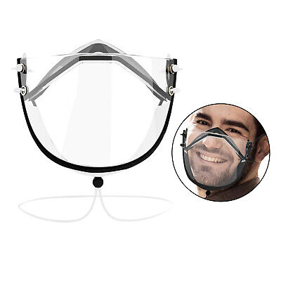 Klare Transparente Gesichtsschutzmaske Anti-Fog-Gesichtsbedeckung Weiß