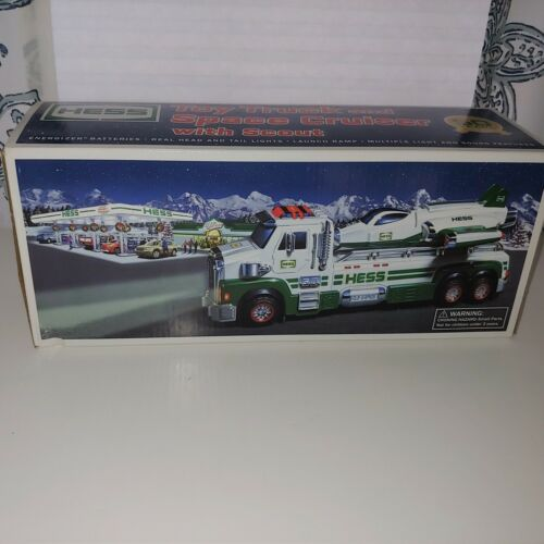 """Hess Toy Truck and Space Cruiser """"multiple lights and sound features"""""""