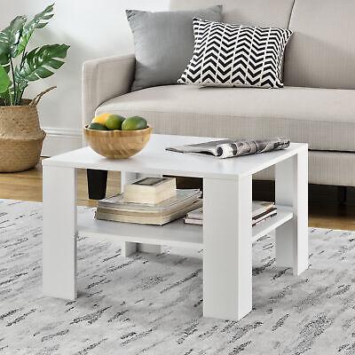 [en.casa] Couchtisch Weiß Tisch Beistelltisch Wohnzimmertisch Sofatisch Möbel Couch, Couchtisch
