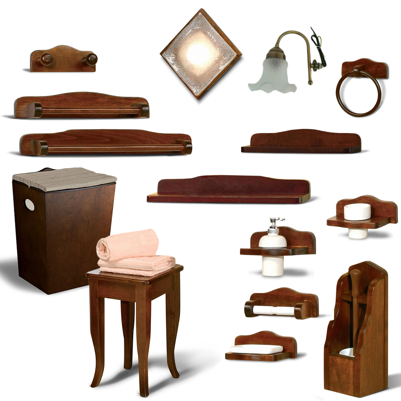 Nuovi accessori bagno arte povera country 16 articoli for Accessori x il bagno