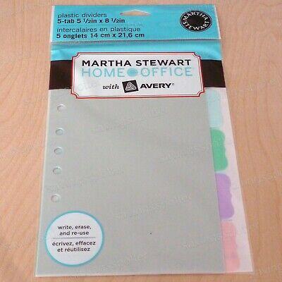 Martha Stewart Small-format Plastic Dividers 5-12 X 8-12 Assorted Flourish