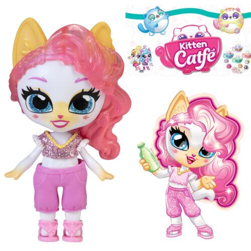 Jakks Series 5 Soda Pop KATLINE MEWHOLMES Kitten Catfe *Light Up Hair* Doll Pink