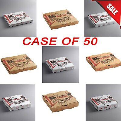50 Case Pick Your Size White Kraft Corrugated Print Top Pizza Bakery Box