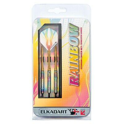 ELKADART RAINBOW 16g - Profi Soft Tip Dart - Dartpfeile Etui Nickel Tungsten