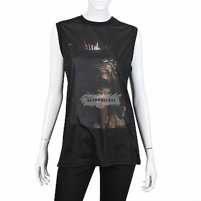 GIVENCHY WOMEN FACE PRINT BLACK SLEEVELESS