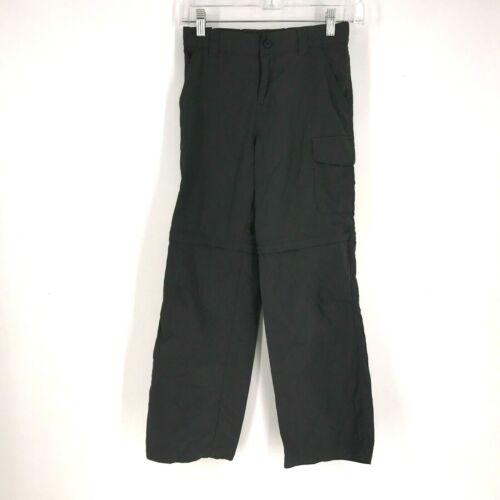 COLUMBIA- BOYS MEDIUM 10-12 - GRAY OMNI SHADE CARGO CONVERTIBLE PANTS