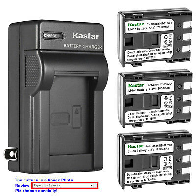 Kastar Battery Wall Charger for Canon NB-2L CB-2LW & Canon EOS Digital Rebel XT