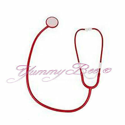 Yummy Bee Stethoscope Doctor Nurse Fancy Dress Toy Outfit Adult Red Play Costume - Red Nurse Outfit