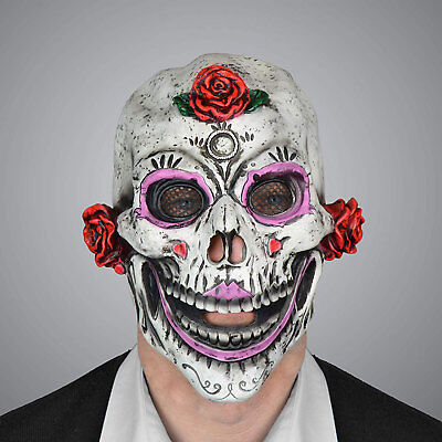 Scream Machine Day of the Dead Skull Adult - Adult Day Of The Dead Skull Maske