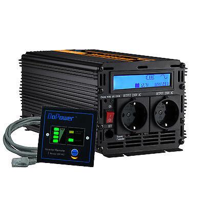Spannungswandler 12V 230V 1500W LCD Display Power Inverter Rein Sinus