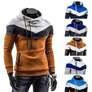 Hombre-Invierno-Sudadera-Con-Capucha-Calido-Ajustado-abrigo-chaqueta-jersey