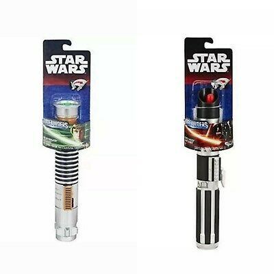 Star Wars Luke Skywalker & Darth Vader Extendable Lightsaber BladeBuilders Toy