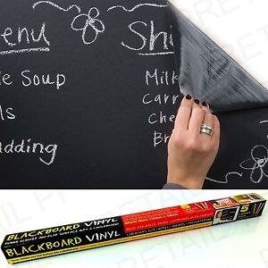 Large VINYL CHALKBOARD★WIPE CLEAN★Blackboard Wall/Office/Black Board EASY FIT
