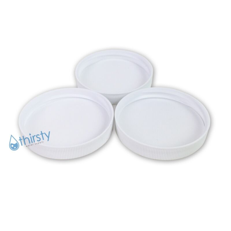 (Lot of 3) Replacement Water Bottle Caps 3 & 5 Gallon Screw On 53mm Aqua Jug USA