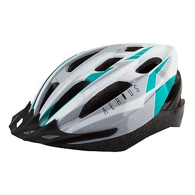 Used, Aerius V19/Sport Bicycle Helmets/Md/Lg/Silver/Turquoise/19/Head Lock for sale  Shipping to India