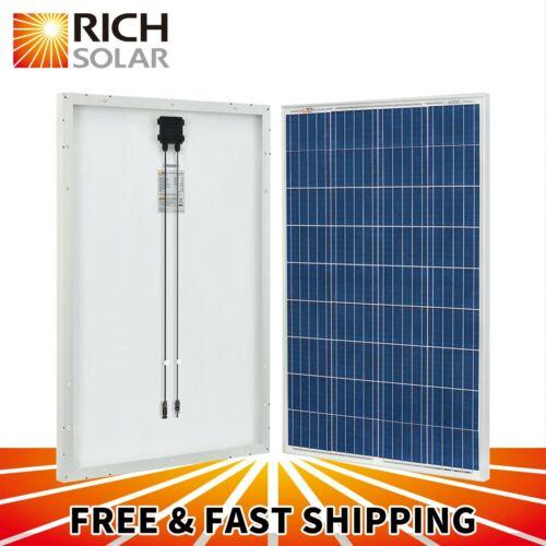 100W 200W  Polycrystalline Solar Panel 12 Volt Battery Charging for RV Boat