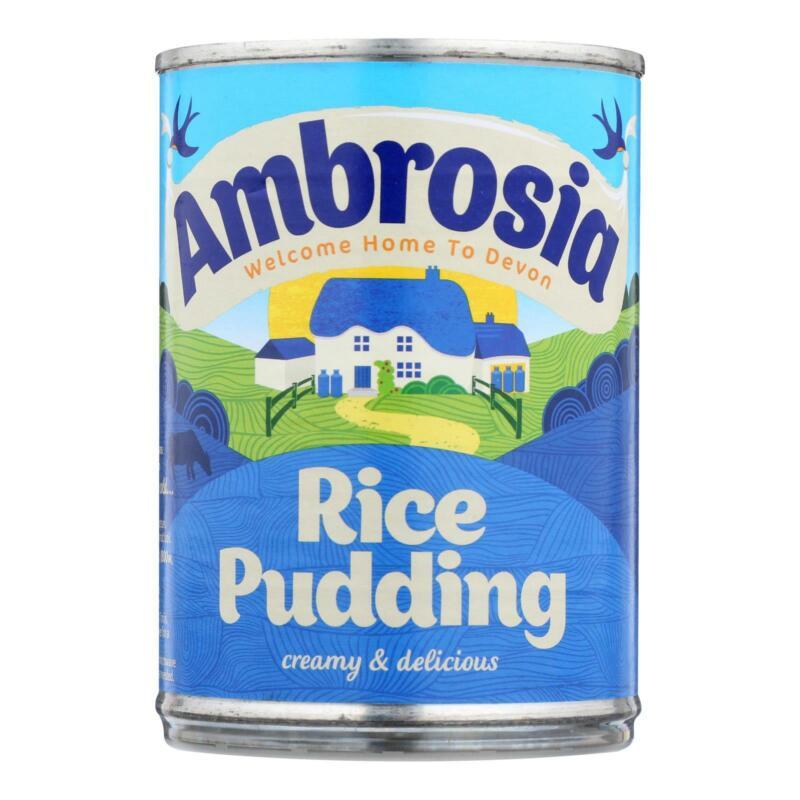 Amberosia Rice Cream (Pack of 12,  14.1 oz. Cans)