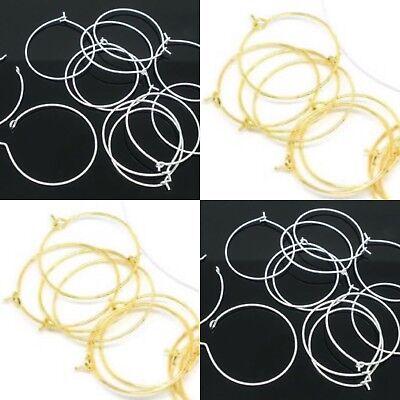 er Weinglas Ohrschmuck gold silber Ohrring 30mm (Weinglas Ringe)