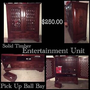 Solid Timber Entertainment Unit Mackay Mackay City Preview