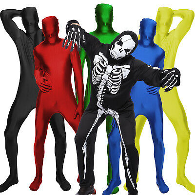 Adult Unisex Lycra Zentai Second Skin Full Body Suit Bodysuit Gimp Suit Jumpsuit - Second Skins Costumes