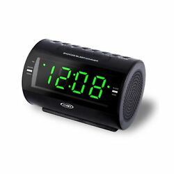 Jensen AM/FM Dual-Alarm Clock Radio 5.70in. x 4.60in. x 4.40in.