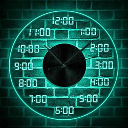 Big Wall Clock Giant Design Digital Numbers LED Back light Colors Changable