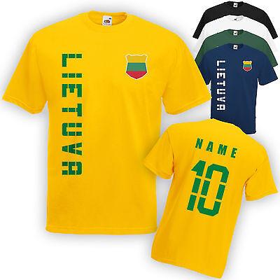 Litauen Lietuva T-Shirt Trikot incl. Name & Nummer S M L XL XXL